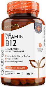 Vitamin B12 1000mcg Methylcobalamin 365 Tablets - Tiredness, Fatigue & Immunity