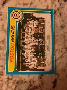 1979/80 near complete Boston Bruins team set - 17 cards