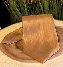"""Jones New York Men's Metallic Bronze Silk Tie, Made in China, 4"""" Wide NO RESERVE"""