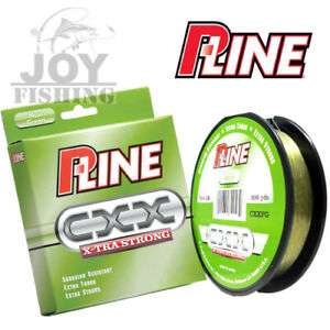 P-Line Cxx Moss Green X-Tra Strong Copolymer Fishing Line 260YDS Select LB Test