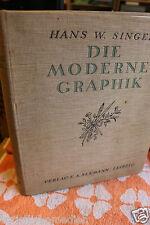 Die moderne Graphik 1920 Singer, Hans W. Darstellung für deren Freunde und Samml