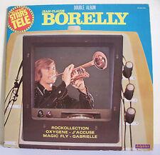 """2 x 33T Jean-Claude BORELLY Disques LP 12"""" SUPER STARS TELE -DELPHINE 700023/024"""