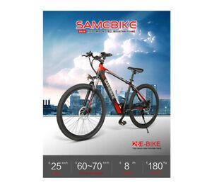 SameBike SH26 250W 8ah Shimano 7 Speed UK STOCK 48hrs DEL w/ FREE MUDGUARDS