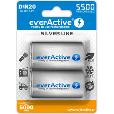 Rechargeable everActive R20/D Ni-MH 5500 mAh 2 pices