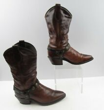 Ladies Brown Distressed Leather Stirrup Western Boots Size : 7 M