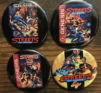 STREETS OF RAGE Collector's Pins Set of 4 BRAND NEW Button Badge Sega Genesis