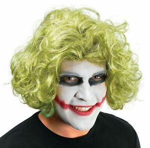 Green Joker Mad Man Wig Dark Knight Fancy Dress Halloween Batman Accessory