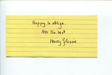 Henry H. Glassie Folklorist Folklore Art Author Signed Autograph