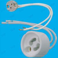 Choose 4x MR16 Socket or 4x GU10 Holder Quality Mains Ceramic Lamp Fitting Base