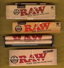 RAW KING SIZE SLIM Rolling Papers+Metal Tin Storage Case+110mm ROLLER+SCOOP CARD