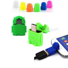 Adapter Converter Android Robot Micro USB 2.0 Host OTG Flash Disk For Samsung S4