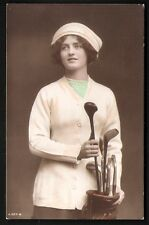 Golf Girl Greeting by Rotary Photo # A 507-6.