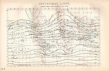 Impresión De 1880 líneas isotérmico ~ Temperatura media mostrando del año