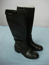 NWOT Women's Chaps Long Top Zip Up Boots Brown Size 6 B #71