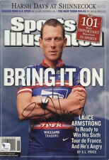 Lance Armstrong Sports Illustrated Autograph Replica Poster