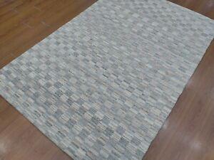 5' x 7'6 Rug  Modern Luxury Soft Hand-Loom Wool Gray Color  Area Rug