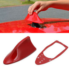 Universal Car Auto Roof Radio AM/FM Shark Fin Style Antenna Aerial Signal Red