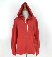 Tommy Hilfiger Hoodie Women's Size XL Full Zip Sweater Jacket Lightweight Coral