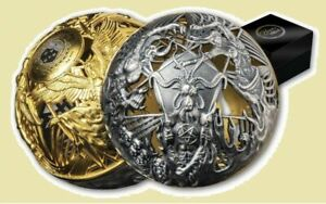 2021 Samoa $5 Heaven & Hell Filigree Sphere 2 oz .999 Silver Coin - 1,499 Made