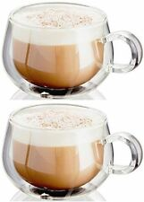 2 x Judge Double Wall Hand Crafted Cappuccino Glass Coffee Glasses Cup