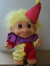"Russ Clown Troll Has Yellow Hair and Brown Eyes 4.25"" Tall"