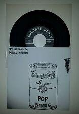 "Ty Segall & Mikal Cronin Pop Song 7"" vinyl record 1st Pressing on Goodbye Boozy"