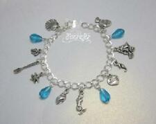 Crystal Glass Silver Plated Chain/Link Costume Bracelets