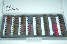 eliteflies 80 Comp River Bug Nymph barbed n' barbless box fly fishing flies