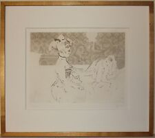 Listed American Artist Jack Levin, Etching
