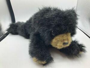 The Bearington Collection Black Grizzly Teddy Bear Plush Stuffed Animal Doll