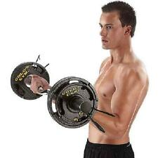 Golds Gym 50 lb Weight Set Olympic Grip Plate Weights Barbell Lifting Plates 6pc