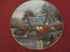 Thomas Kinkade Olde Thomashire Mill collector plate Bradford Exchange