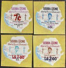1964 SIERRA LEONE #282, 292, 293, 298 : MNH Short Set of 4 - John F. Kennedy