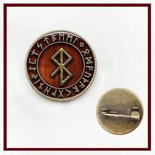 Viking Gothic Rune Runic Symbols Circle Glass Dome Cabochon Lapel Pin Badge