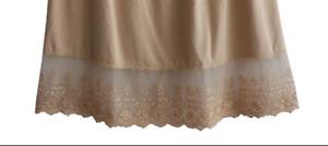 Womens Single Lace Cotton Underskirt Skirt Extender Half Slip for Lengthening