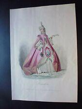 Gravure mode ancienne sous le directoire: robe façon la Pompadour, COMPTE-CALIX
