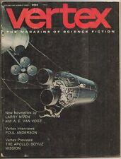 VERTEX Vol 1 No 3, Aug 1973. Larry Niven, Norman Spinrad, A.E. van Vogt