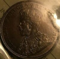 1916 CANADA LARGE 1 CENT COIN - ICCS Certified MS-62 Lustrous Brown