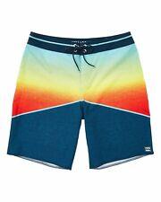 Billabong Mens North Point Pro Boardshorts Orange Combo 32 New