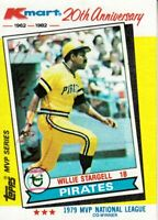 Willie Stargell autographed signed Pittsburgh Pirates 1982 Topps Kmart card set