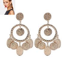 Tribal Rare Coins Big Hoop Banjara Kuchi Belly Dance Boho Gypsy Dangle Earrings