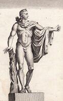 Gravure XVIIIe Apollon Du Belvédère Léocharès Apollo Belvedere Apolo 1780