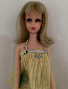 Vintage 1965 Francie Doll Mattel Bendable Legs Blonde Eyelashes Sweet Dreams Set