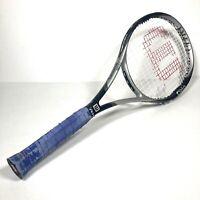 Wilson Ultra Pro Adults Tennis Racket Outdoor Sports Silver Black 4 3/8