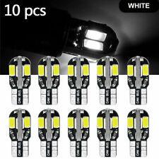 10X T10 194 168 W5W 5-Smd Led Car Canbus Wedge Dome Map Light Bulbs White 6000K