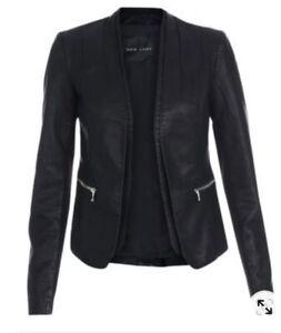 New Look Tall Leather Look Blazer 16 BNWOT