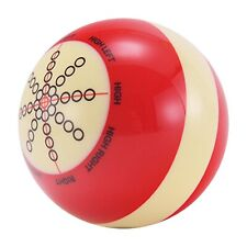 """Professional Cue Ball Billiard Pool Practice Training Cue Ball 2 1/4"""" Red"""
