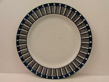 Athena by Tognana Dinner Plate Blue White Stripes & Squares L147