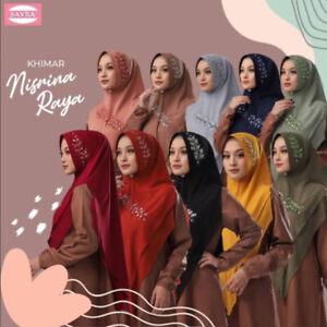 Nisrina Khimar Instant Hijab One Piece Pinless Slip On Scarf  Long Jilbab Abaya