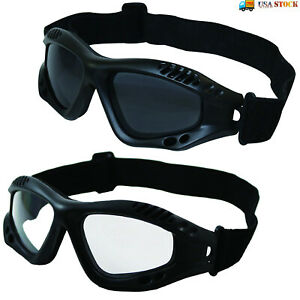 Tactical Goggles UV 400 Anti-Fog Motorcycle Bike Ski Safety Protective Glasses